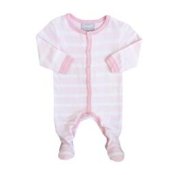 Coccoli Coccoli - Pyjama à Pattes/Footie, Rayé Rose et Blanc/Pink White Stripe