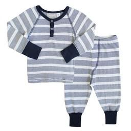 Coccoli Coccoli - Pyjama 2 Pièces/2 Pieces Pajamas, Rayé Marine et Blanc/Navy and White Stripe, Bébé/Baby