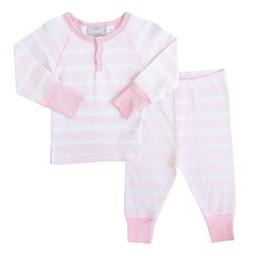Coccoli Coccoli - Pyjama 2 Pièces/2 Pieces Pajamas, Rayé Rose et Blanc/Pink and White Stripe, Bébé/Baby