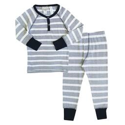 Coccoli Coccoli - Pyjama 2 Pièces/2 Pieces Pajamas, Rayé Marine et Blanc/Navy and White Stripe, Enfant/Toodler