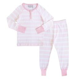 Coccoli Coccoli - Pyjama 2 Pièces/2 Pieces Pajamas, Rayé Rose et Blanc/Pink and White Stripe, Enfant/Toodler