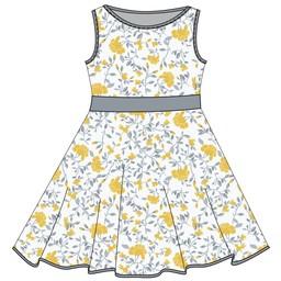 Coccoli Coccoli - Robe/Dress, Fleurs Citron/Lemon Floral