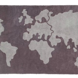 Lorena Canals Lorena Canals - Tapis Map Monde/Wold Map Rug