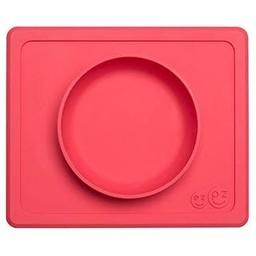 Ezpz EZPZ- Napperon et Bol Tout-en-un Mini Bowl/Mini Bowl All-in-one Placemat and Bowl by Ezpz, Corail/Coral
