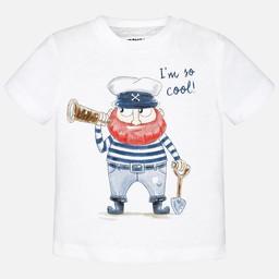 Mayoral Mayoral - T-Shirt Pirate/Pirate T-Shirt, Blanc/White