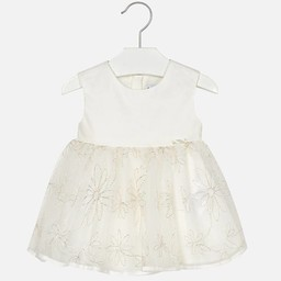 Mayoral Mayoral - Robe Tulle/Tulle Dress, Champagne