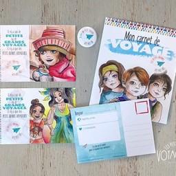 Les Petits Grands Voyageurs Les Petits Grands Voyageurs - L'ensemble Carnet de Voyage/The Travel Book Set