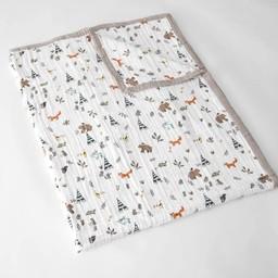 Little Unicorn Little Unicorn - Couette en Mousseline de Coton Grand Format/Cotton Muslin Big Quilt, Amis de la Forêt/Forest Friends
