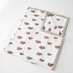 Little Unicorn Little Unicorn - Couette en Mousseline de Coton Grand Format/Cotton Muslin Big Quilt, Bison