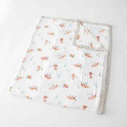 Little Unicorn Little Unicorn - Couette en Mousseline de Coton Grand Format/Cotton Muslin Big Quilt, Renard/Fox