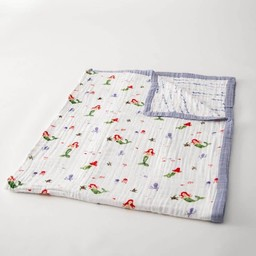 Little Unicorn Little Unicorn - Couette en Mousseline de Coton Grand Format/Cotton Muslin Big Quilt, Sirène/Mermaid