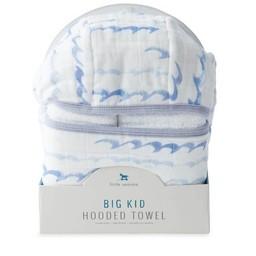 Little Unicorn Little Unicorn - Sortie de Bain Grand Format/Cotton Hooded Big Towel, High Tide