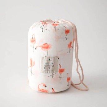 Little Unicorn Little Unicorn - Couette Deluxe en Mousseline de Bambou Grand Format/Deluxe Bamboo Muslin Big Quilt, Flamants/Pink Ladies