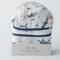 Little Unicorn Little Unicorn - Sortie de Bain Grand Format/Cotton Hooded Big Towel, Shark