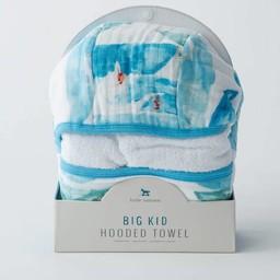 Little Unicorn Little Unicorn - Sortie de Bain Grand Format/Cotton Hooded Big Towel, Surf