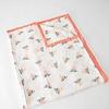Little Unicorn Little Unicorn - Couette en Mousseline de Coton Grand Format/Cotton Muslin Big Quilt, Aquarelle Rose/Watercolor Rose