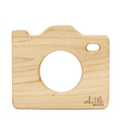 Whittle Wood Whittle Wood - Jouet de Dentition/Teething Toy, Appareil Photo/Whittle Selfie