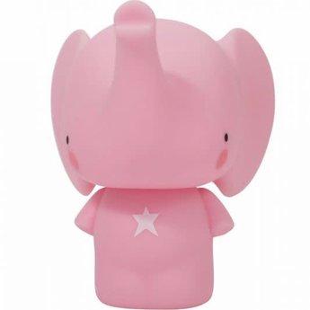 A Little Lovely Company A Little Lovely Company - Tirelire Éléphant/Money Box Elephant, Rose/Pink