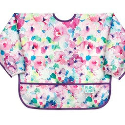 Bumkins Bumkins - Bavoir Manches Longues/Sleeved Bib , Aquarelle Fleur/Watercolour Flower