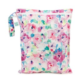 Bumkins Bumkins - Sac Imperméable/Wet Bag, Aquarelle Fleurs/Watercolour Flower