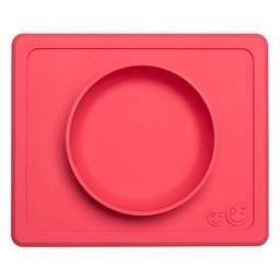 Ezpz EZPZ- Napperon et Bol Tout-en-Un, Mini Bowl/Mini Bowl, Placemat + Bowl In One, Rose/Pink