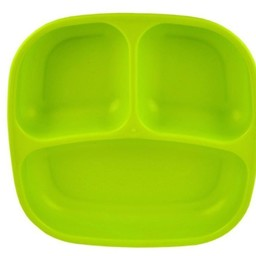 Re-Play Re-Play - Assiette à Compartiments/Divided Plates, Vert Lime/Lime Green