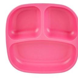 Re-Play Copy of Re-Play - Assiette à Compartiments/Divided Plates, Rose Bébé/Baby Pink