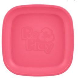 Re-Play Copy of Re-Play - Assiette de Plastique/Plastic Plate, Rose Bébé/Baby Pink