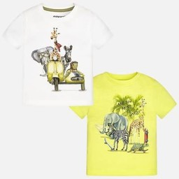 Mayoral Mayoral - T-Shirt Animaux de la Jungle Planche à Roulette/ Jungle Animal Skate Board T-Shirt, Ananas/Pineapple