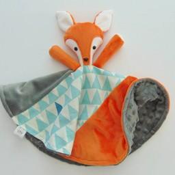 Créations Camomille Créations Camomille - Couverture Tout-Doux/Soft Blanket, Renard/Fox
