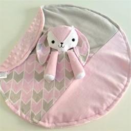 Créations Camomille Créations Camomille - Couverture Tout-Doux/Soft Blanket, Lapine/Rabbit