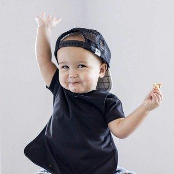 Bapron Baby Bapron Baby - Bavoir Sans Manche/Bib Without Sleeve, Noir/Minimalist Black