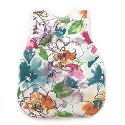 Bapron Baby Bapron Baby- Bavoir Sans Manche/Bib Without Sleeve, Fleurs Peintes/Vibrant Painted Floral