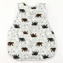 Bapron Baby Bapron Baby - Bavoir Sans Manche/Bib Without Sleeve, Ours Géométrique/Geometric Bear