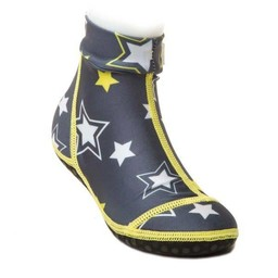 Duukies Duukies - Bas de Plage/Beachsocks, Étoiles/Stars, Jaune et Gris/Grey Yellow