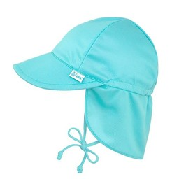 IPlay Iplay - Chapeau à Protection Solaire Flap/Flap Sun Protection Hat, Aqua