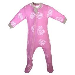 Zippy Jamz Zippy Jamz - Pyjama à Pattes/Footie, Coeur/Heartbreaker, Rose/Pink