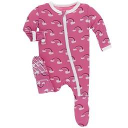 Kickee Pants Kickee Pants - Pyjama à Pattes/Footie, Arc-En-Ciel/Rainbow