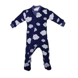Zippy Jamz Zippy Jamz - Pyjama à Pattes/Footie, Nuages/Sleepy Clouds, Marine/Navy