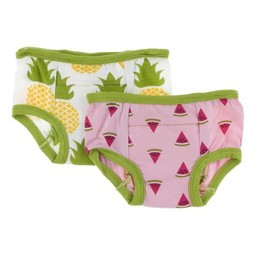 Kickee Pants Kickee Pants -  Ensemble de 2 Sous-Vêtements D'entrainement/Set of 2 Training Pants, Melon D'eau/Watermelon