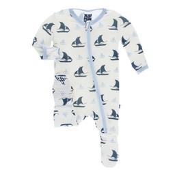 Kickee Pants Kickee Pants - Pyjama à Pattes/Footie, Voilier/Sailboat