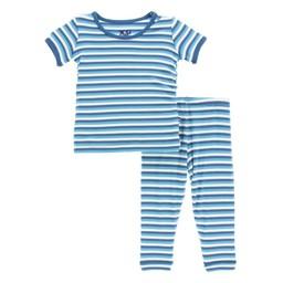 Kickee Pants Kickee Pants - Pyjama 2 Pièces à Manches Longues/Long Sleeve Pajama Set, Confetti/Confettis