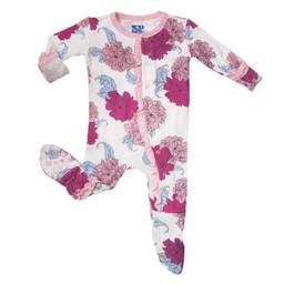 Kickee Pants Kickee Pants - Pyjama à Pattes Muffin Avec Volants/Muffin Ruffle Footie, Pivoine/Peony