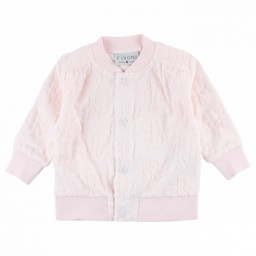 Fixoni Fixoni - Cardigan en Velour/Grow Cardigan, Rose Doux/Soft Pink