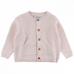 Fixoni Fixoni - Cardigan en Tricot/Knit Cardigan, Rose Doux/Soft Pink