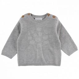 Fixoni Fixoni - Chandail en Tricot/Knit Pullover, Mélange de Gris/Grey Melange