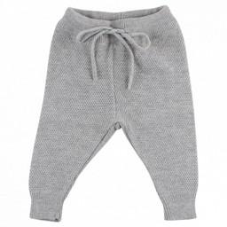 Fixoni Fixoni - Pantalon en Tricot/Knit Pants, Mélange de Gris/Grey Melange