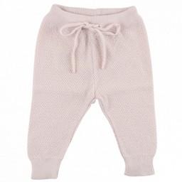 Fixoni Fixoni - Pantalon en Tricot/Knit Pants, Rose Pâle/Soft Pink