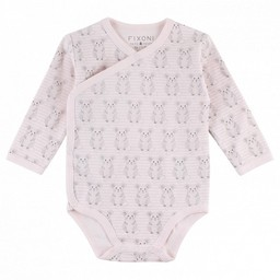 Fixoni Fixoni - Cache Couches Manches Longues/Longsleeves Body, Souris/Pink Mouses