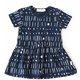 Miles Baby Miles Baby - Robe en Tricot pour Bébé/Baby Dress Knit, Marine/Navy